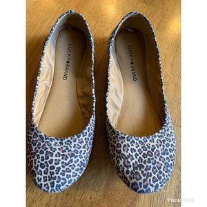 Lucky Brand Leopard Emmie flats